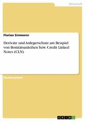 Derivate und Anlegerschutz am Beispiel von Boni...