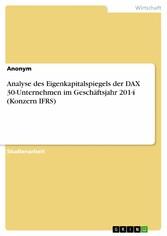 Analyse des Eigenkapitalspiegels der DAX 30-Unt...