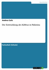 Die Entwicklung des Kibbuz in Palästina