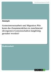 Gemeinwesenarbeit und Migration. Wie kann das Z...