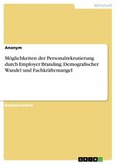 Möglichkeiten der Personalrekrutierung durch Em...