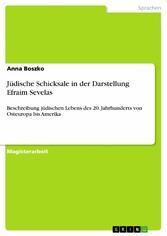 Jüdische Schicksale in der Darstellung Efraim S...