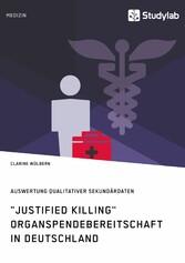Justified Killing. Organspendebereitschaft in D...
