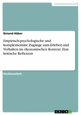 Empirisch-psychologische und komplementäre Zugä...