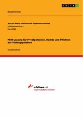 PKW-Leasing für Privatpersonen. Rechte und Pfli...