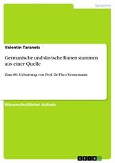 Germanische und slavische Runen stammen aus ein...