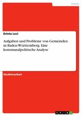 Aufgaben und Probleme von Gemeinden in Baden-Wü...