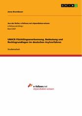 UNHCR Flüchtlingsanerkennung. Bedeutung und Rec...