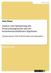 Analyse und Optimierung des Prozessmanagements ...