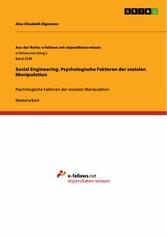 Social Engineering. Psychologische Faktoren der...