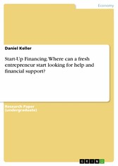 Start-Up Financing. Where can a fresh entrepren...