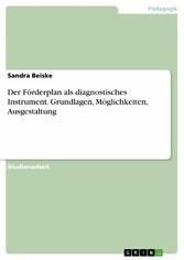 Der Förderplan als diagnostisches Instrument. G...