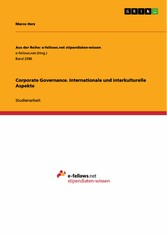 Corporate Governance. Internationale und interk...