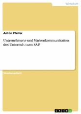 Unternehmens- und Markenkommunikation des Unter...