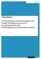 Verschmelzung vom Fernseherleben und sozialer I...