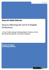 Factors Affecting the Level of English Proficie...