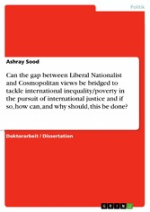 Can the gap between Liberal Nationalist and Cos...