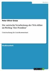 Die satirische Verarbeitung der NSA-Affäre im W...