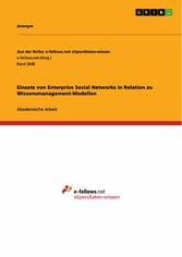 Einsatz von Enterprise Social Networks in Relat...