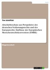 Abschiebeschutz aus Perspektive des deutschen V...
