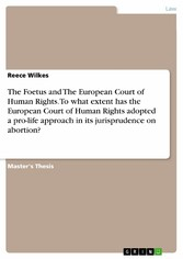 The Foetus and The European Court of Human Righ...
