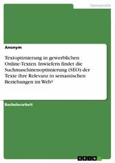Textoptimierung in gewerblichen Online-Texten. ...