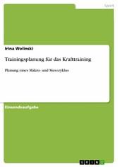 Trainingsplanung für das Krafttraining - Planun...