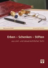 Erben Schenken Stiften (Ausgabe Österreich) - a...