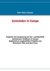 Gemeinden in Europa - Vergleich und Auswertung ...