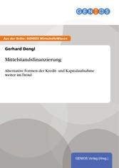 Mittelstandsfinanzierung - Alternative Formen d...