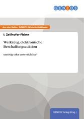 Werkzeug elektronische Beschaffungsauktion - un...