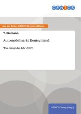 Automobilmarkt Deutschland - Was bringt das Jah...