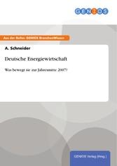 Deutsche Energiewirtschaft - Was bewegt sie zur...