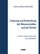 Ursprung und Entwicklung der Wissenschaften und...