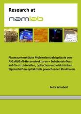 Plasmaunterstützte Molekularstrahlepitaxie von ...