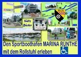 Den Sportboothafen Marina Rünthe mit dem Rollst...