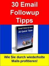 30 Email Followup Tipps - Wie Sie durch wiederh...