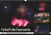 Kalender zum Selberdrucken-Farbenfrohe Feuerwerke - DIN A4 Querformat-Kalender mit österreichischen Feiertagen 2017