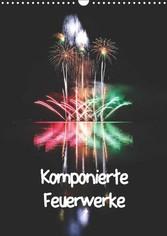Kalender zum Selberdrucken - Komponierte Feuerwerke 2017 - DIN A4 Hochformat-Kalender mit deutschen Feiertagen