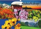 Kalender zum Selberdrucken - Kaleidoskop 2017 - DIN A4 Querformat-Kalender mit deutschen Feiertagen