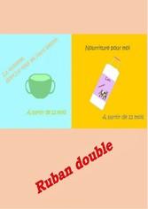 Ruban double - Vaisselle et de la Nourriture po...