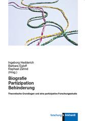 Biografie, Partizipation, Behinderung - Theoret...
