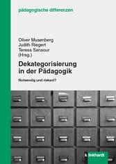 Dekategorisierung in der Pädagogik - Notwendig ...