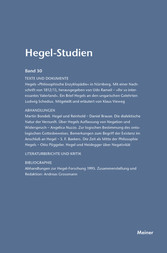 Hegel-Studien / Hegel-Studien Band 30 - 1995