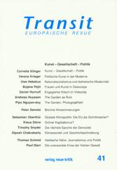 Transit 41. Europäische Revue - Kunst - Gesells...