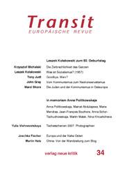 Transit 34. Europäische Revue - Leszek Kolakows...