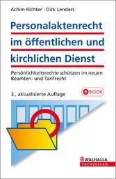 Personalaktenrecht im öffentlichen und kirchlic...