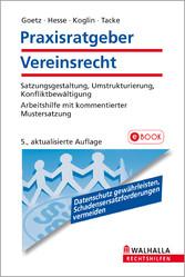 Praxisratgeber Vereinsrecht - Satzungsgestaltun...