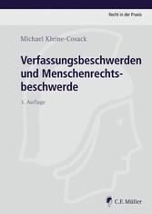 Verfassungsbeschwerden und Menschenrechtsbeschw...