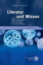 Literatur und Wissen - Zum anthropologischen Wi...